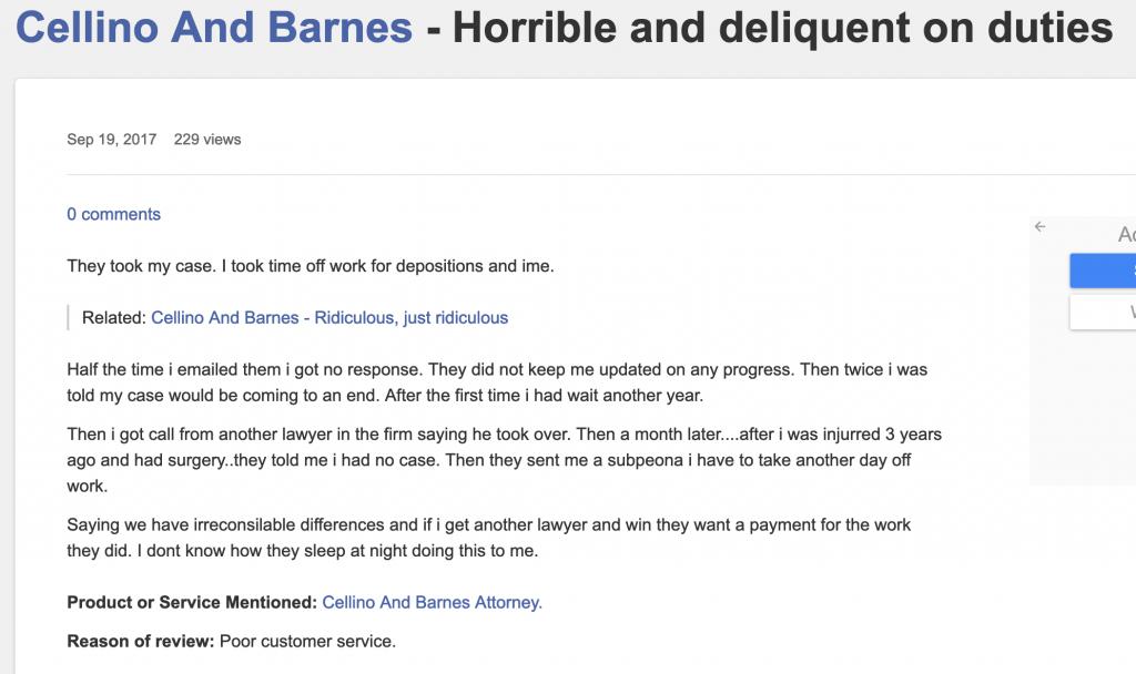 Consumer Complaint against Barnes Firm